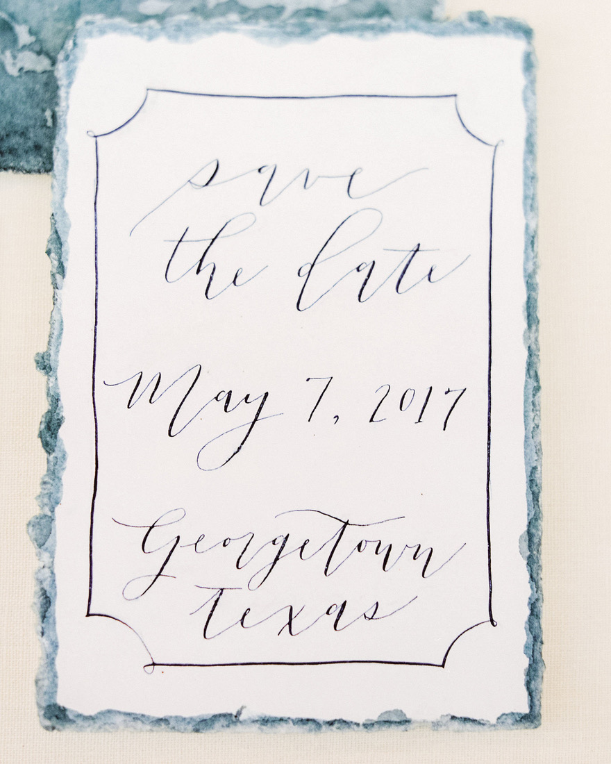 classic save the dates minimalistic text standout border
