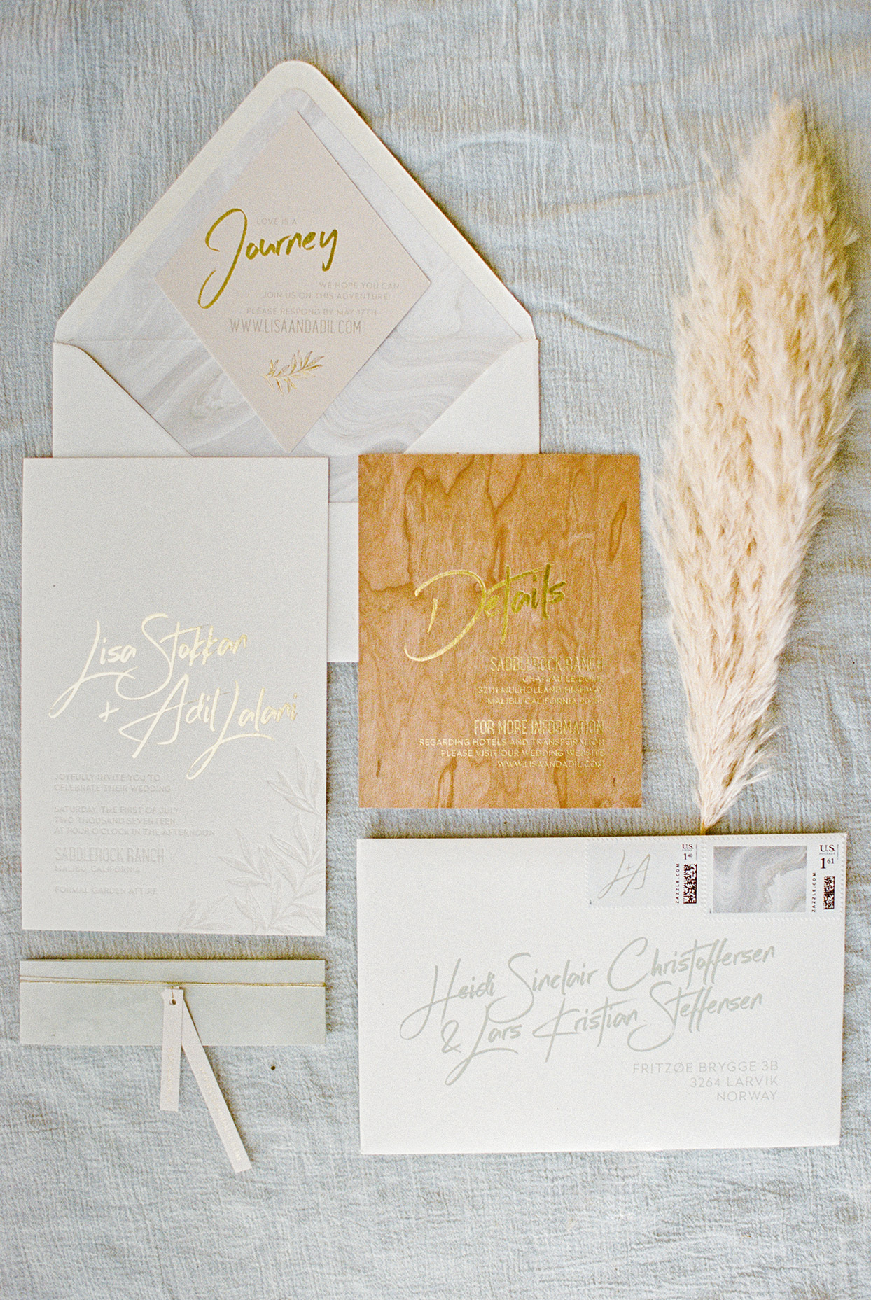 rustic wedding invitations with wood accents