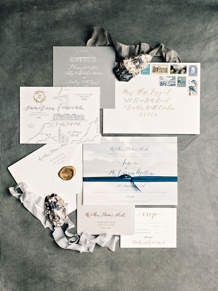 Set the scene for your venue and the season—this La Happy suite was inspired by the sea (and even included an coastal painting by Sarah Simon), but featured muted shades that work well for spring.