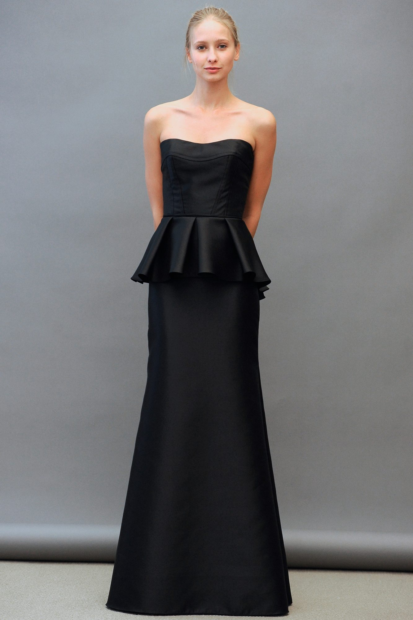 Floor-Length Black Bridesmaid Dress