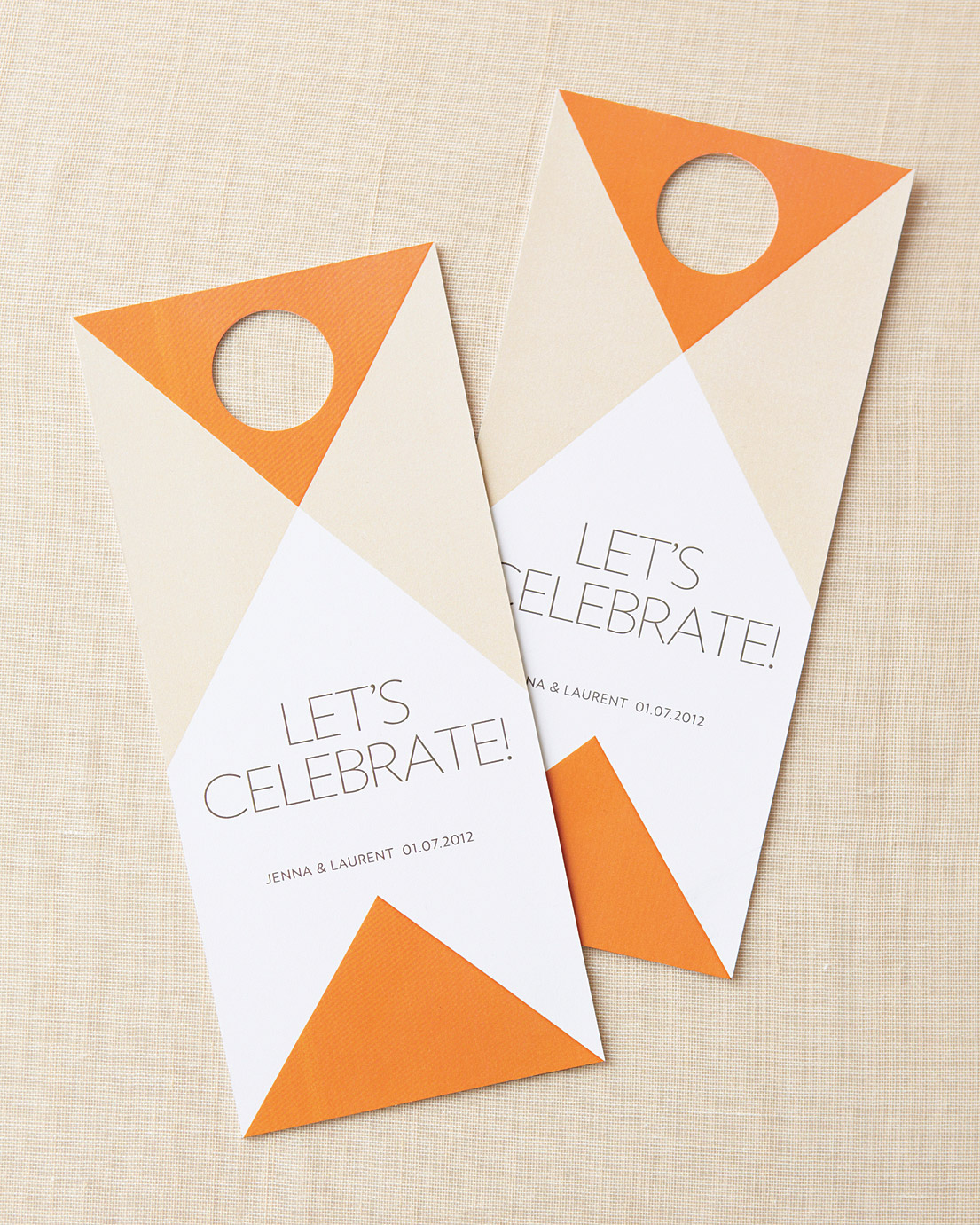 For an Urban Affair: Welcome Door Tags