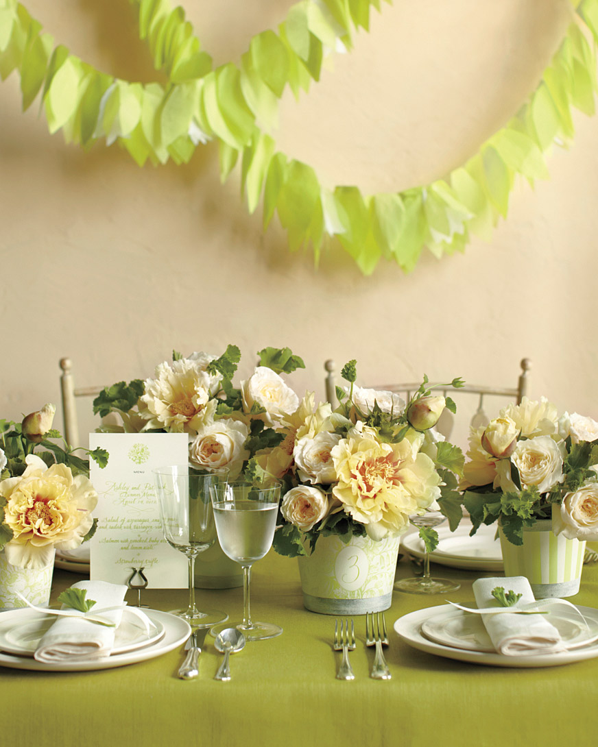 For a Garden Party:  Botanical Table Setting