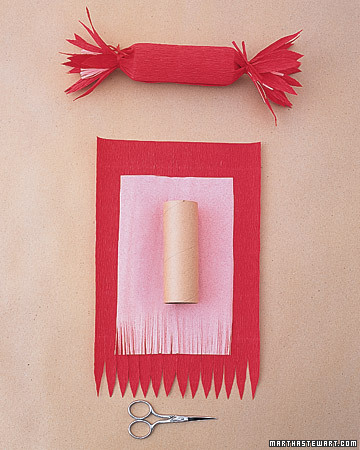 Crepe-Paper Cracker Favors