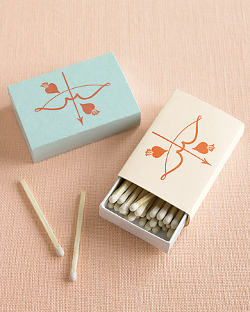 Cupid's Bow Matchbox Favors