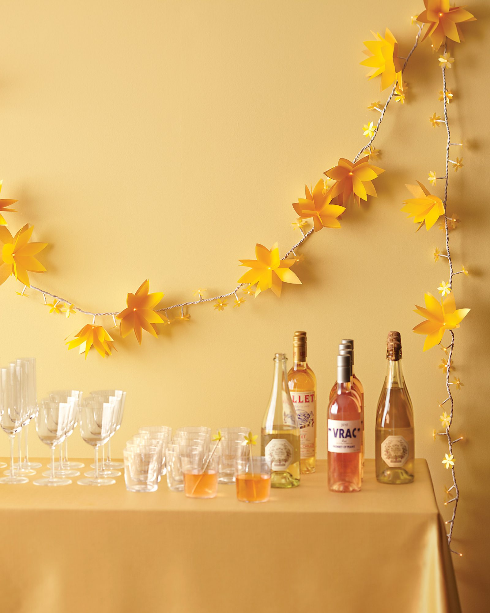 Light-Up Paper Flower Garland