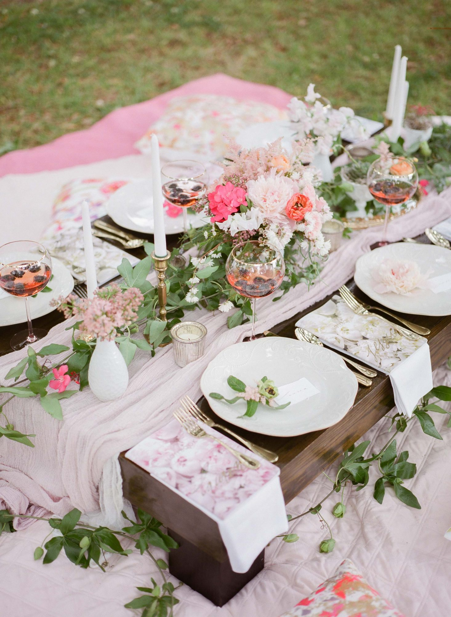 outdoor picnic spread