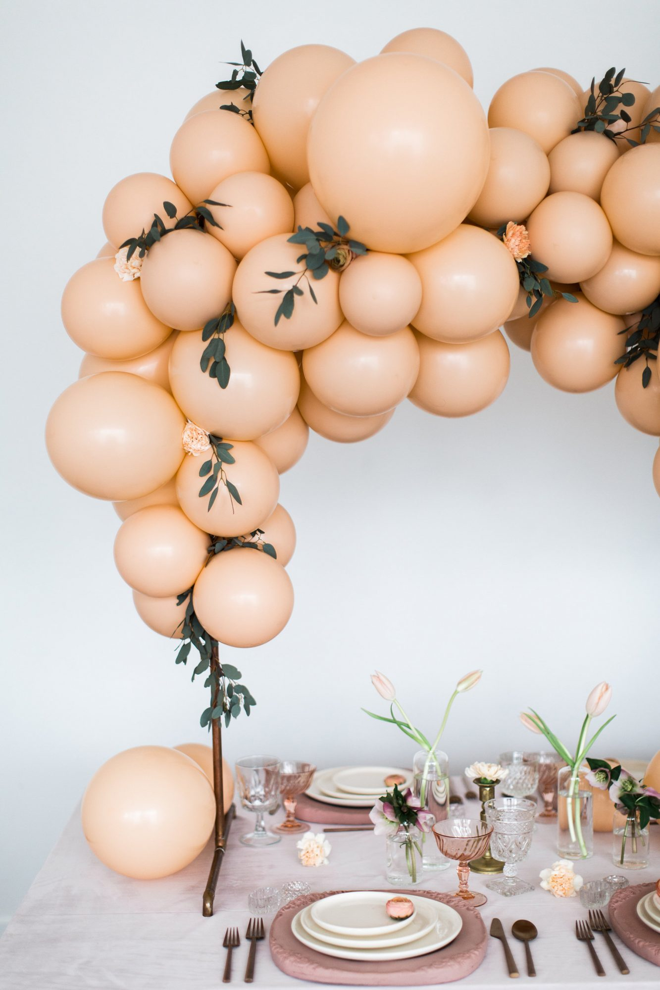 Muted Peach Balloon Arch