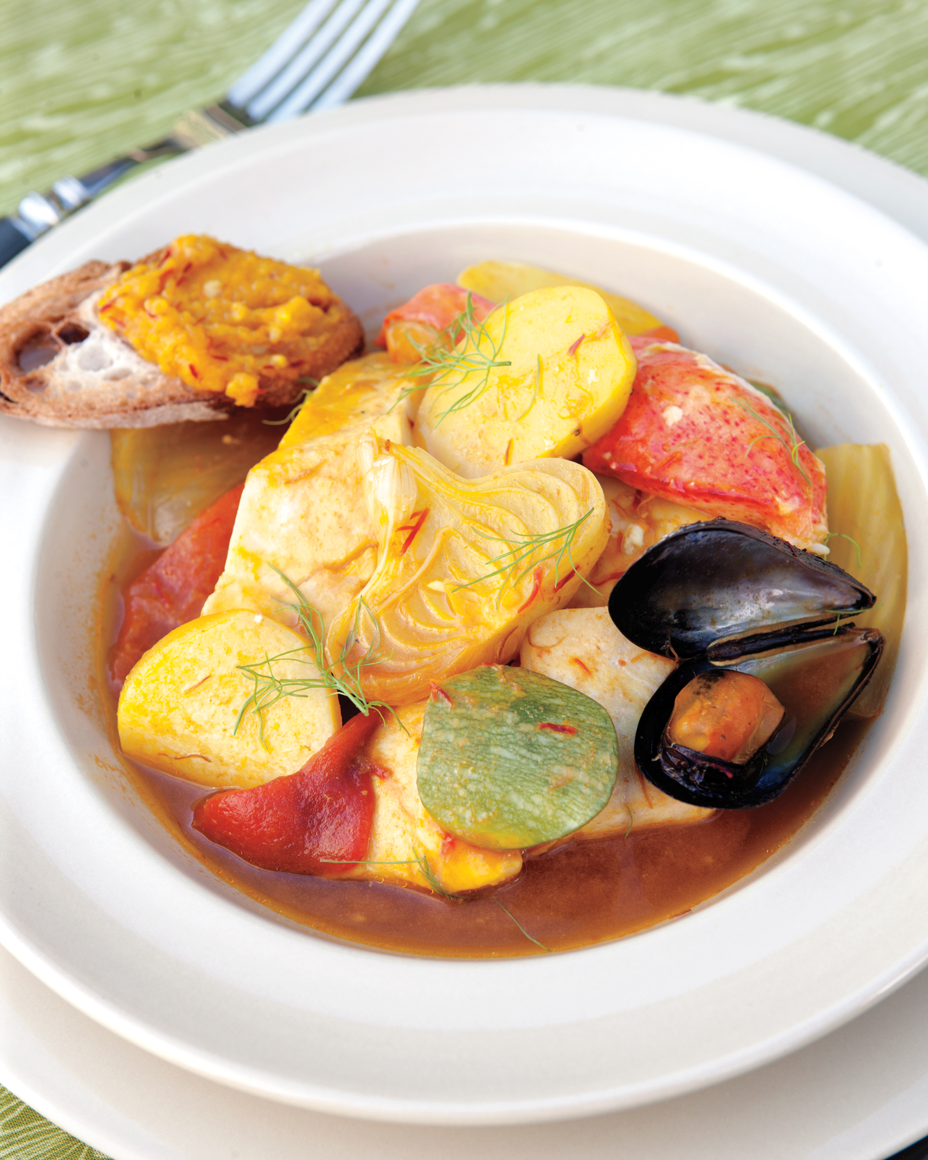 Bouillabaisse with Lobster