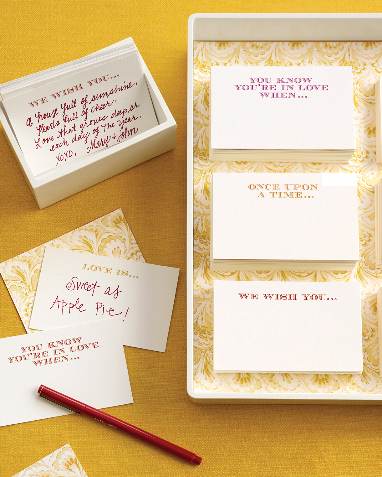Thought-Starter Guest-Book Cards