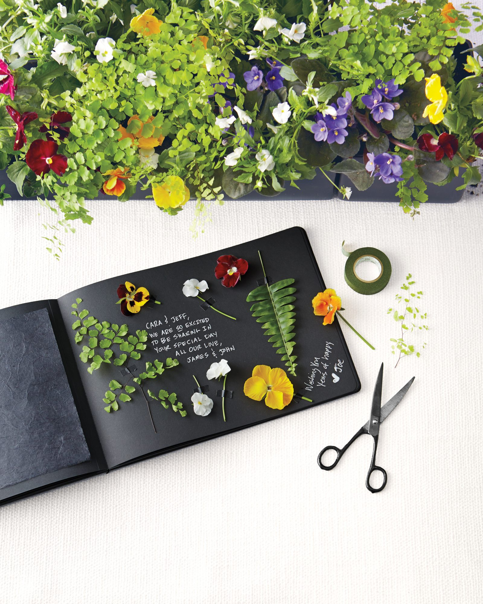 Pressed-Flowers Guest Book