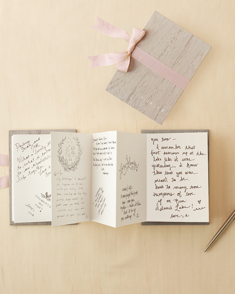 Accordion-Style Guest Book