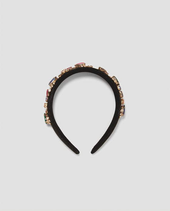black jeweled headband