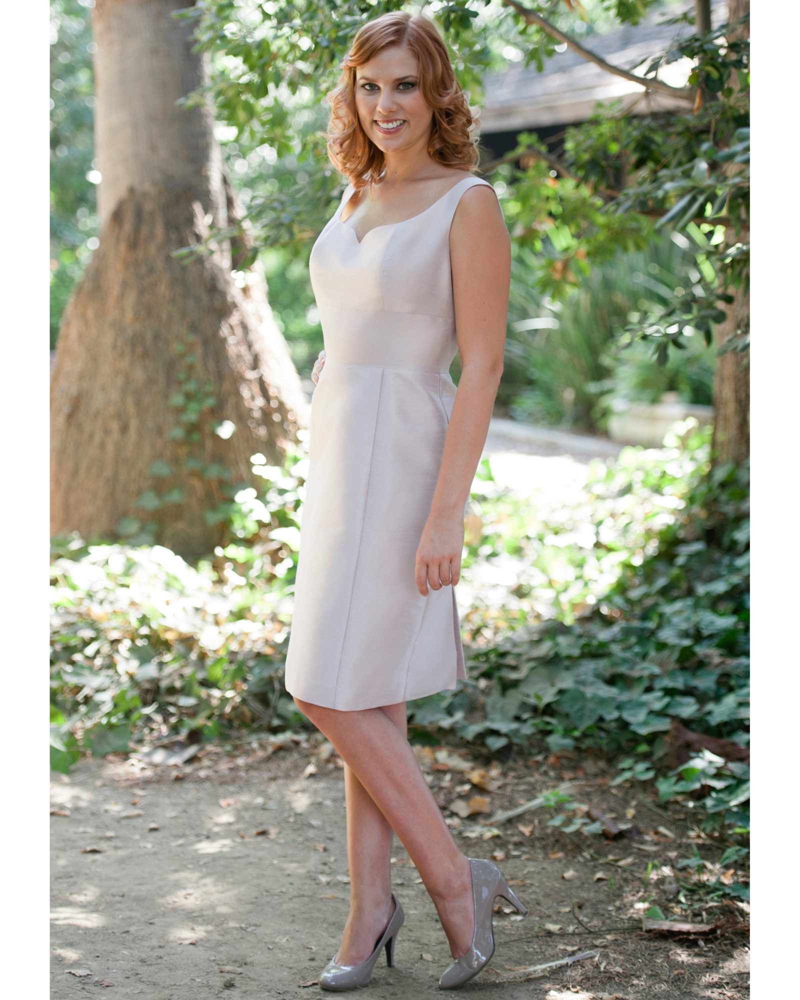 Short Champagne Bridesmaid Dress