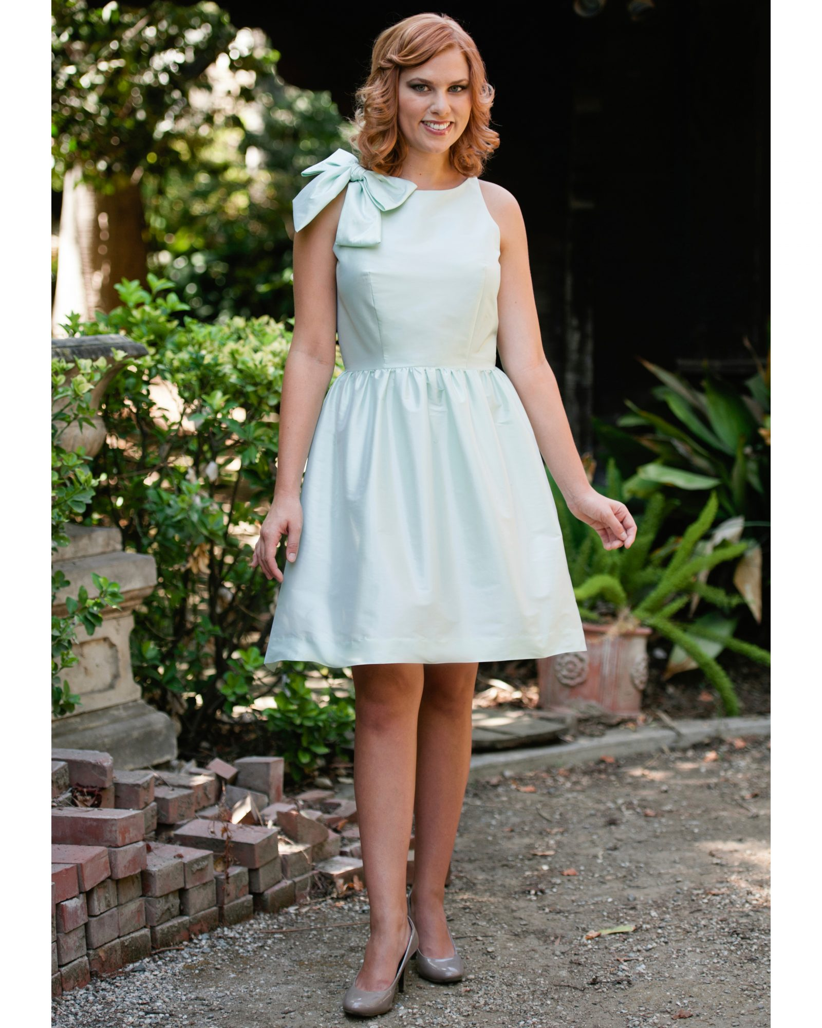 Short Mint Bridesmaid Dress