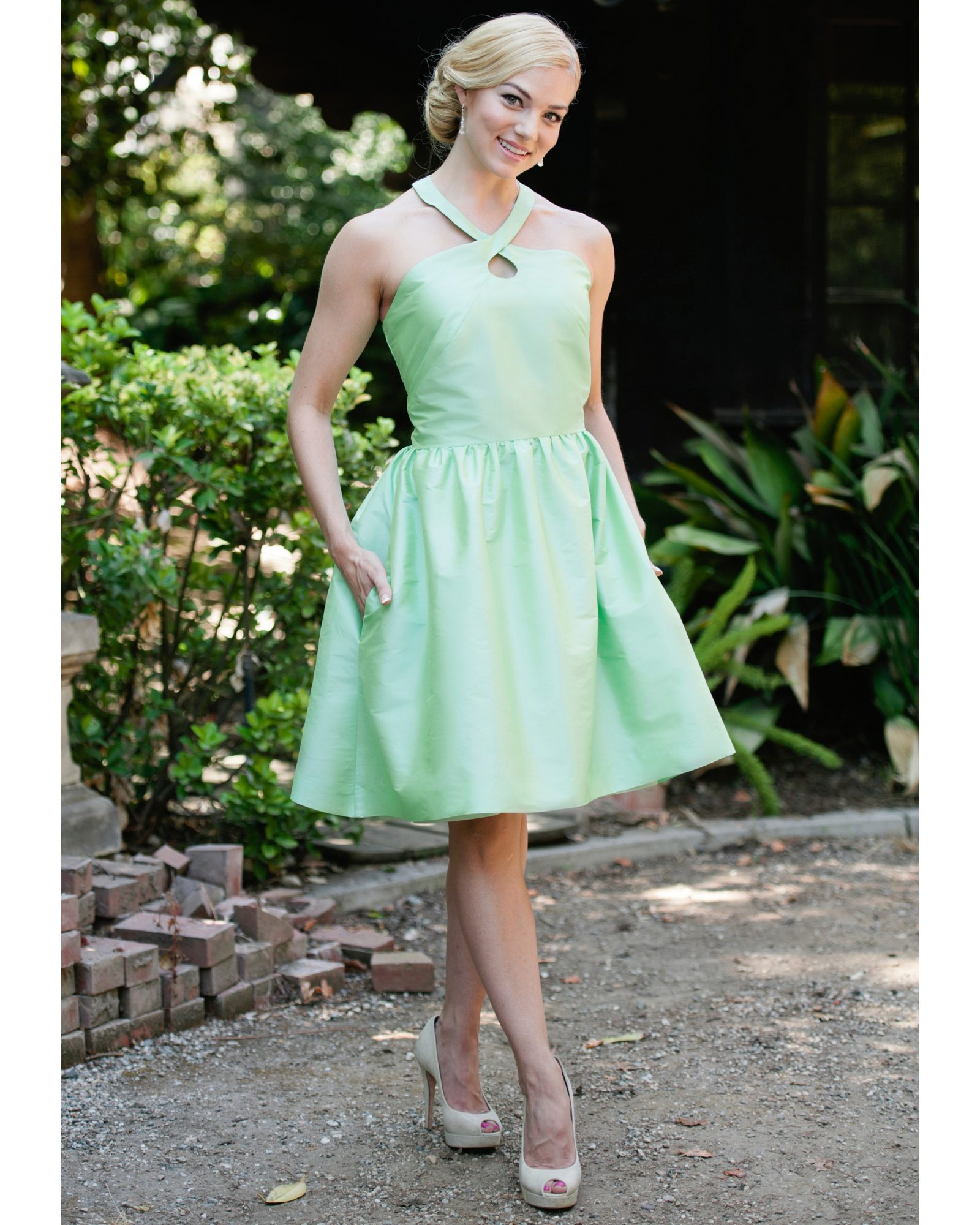 Short Green Bridesmaid Dress