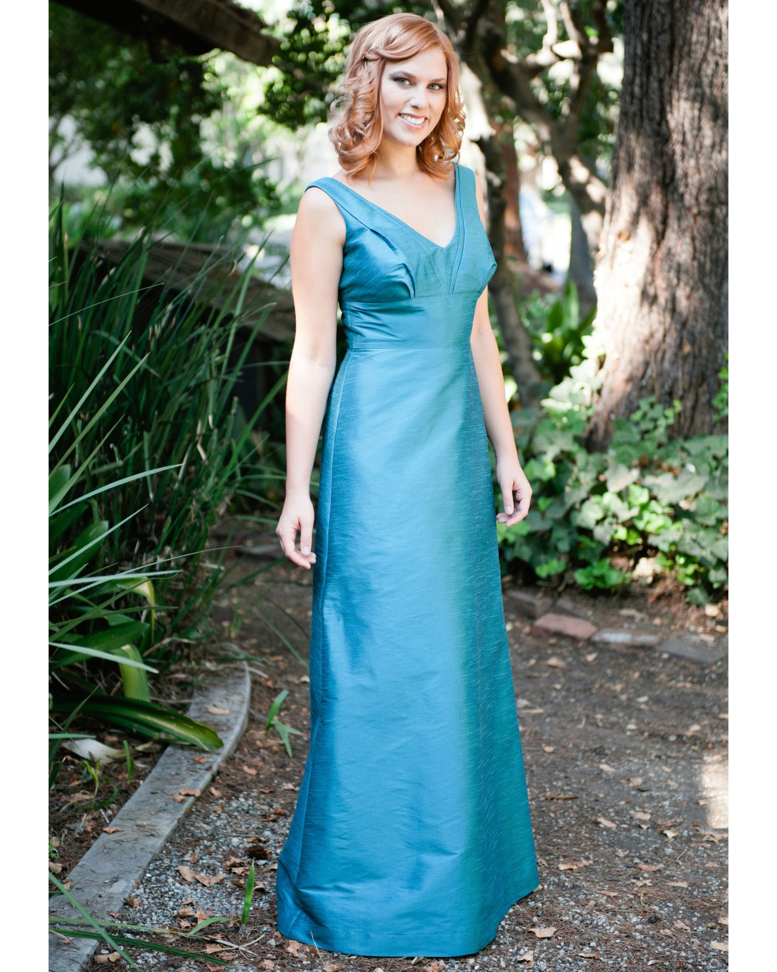 Teal Empire Bridesmaid Dress