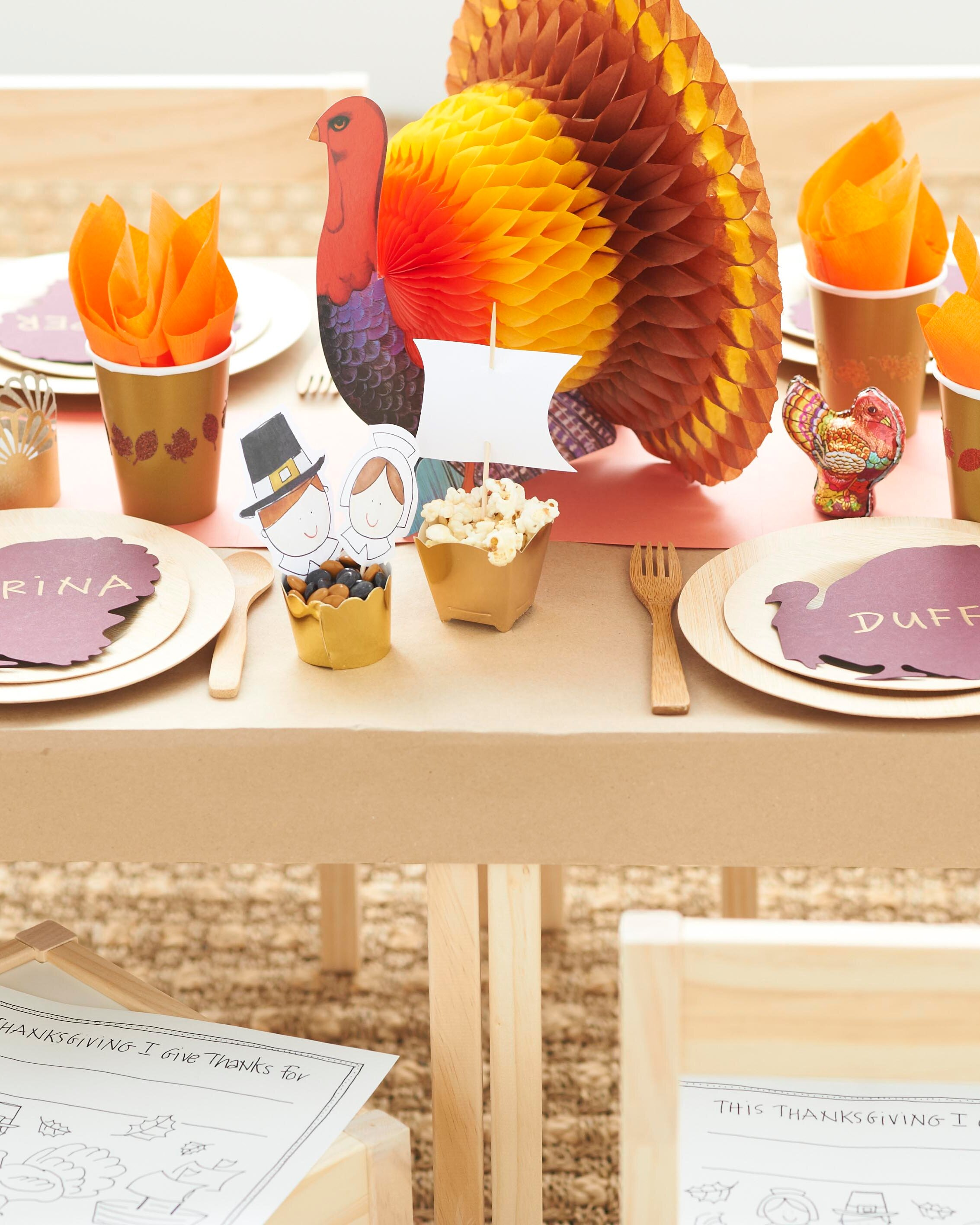 11 Thanksgiving Tables For Kids That Set Up Fun Crafts And