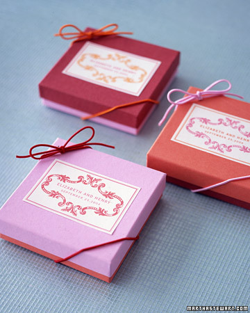 Mix and Match Boxed Favors