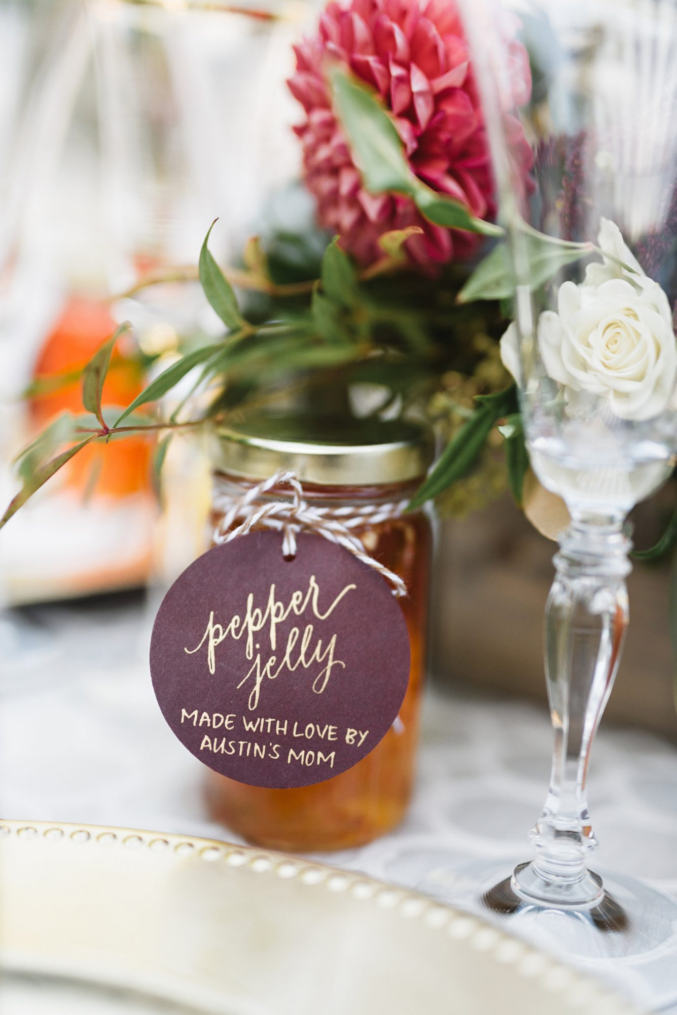 A great DIY option is delicious pepper jelly, which is best made with love from mom herself. She'll appreciate getting a shout out for her hard work on your special day.