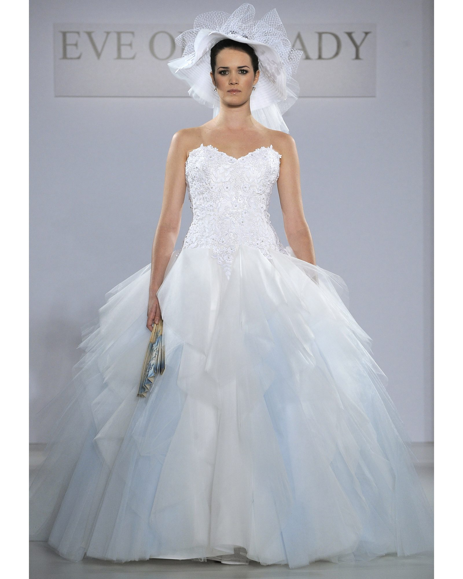 Blue-and-White Ball Gown