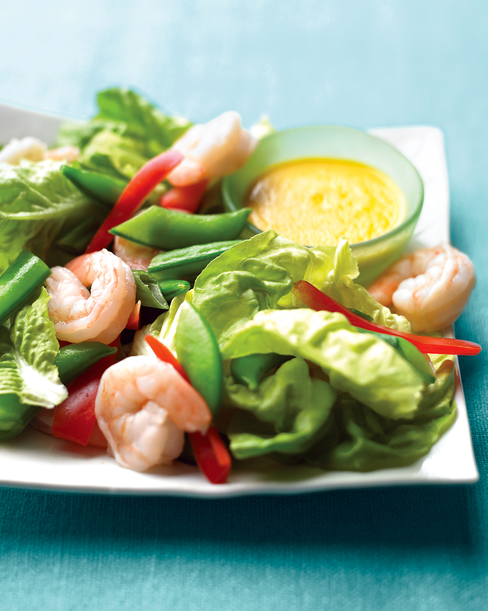 Shrimp and Snap Pea Salad with Ginger Dressing