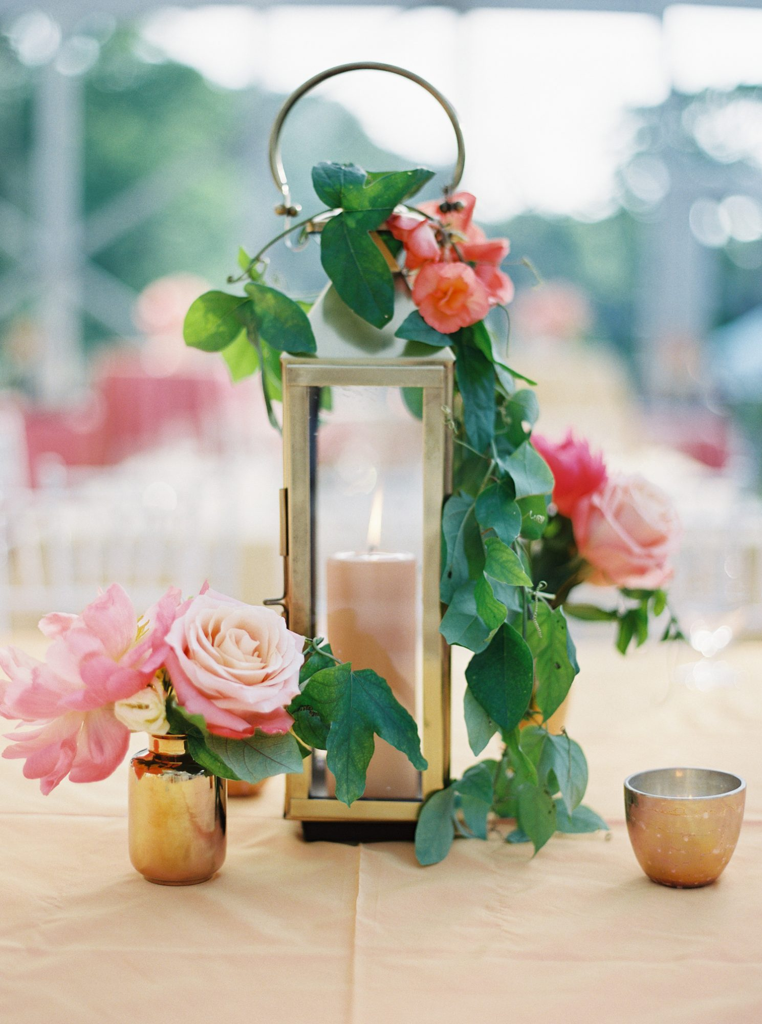 candle wedding centerpiece