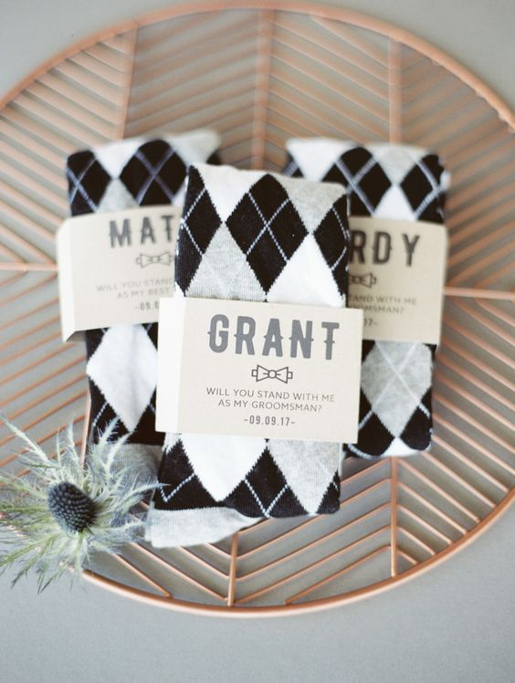 groomsmen sock bridal party gifts