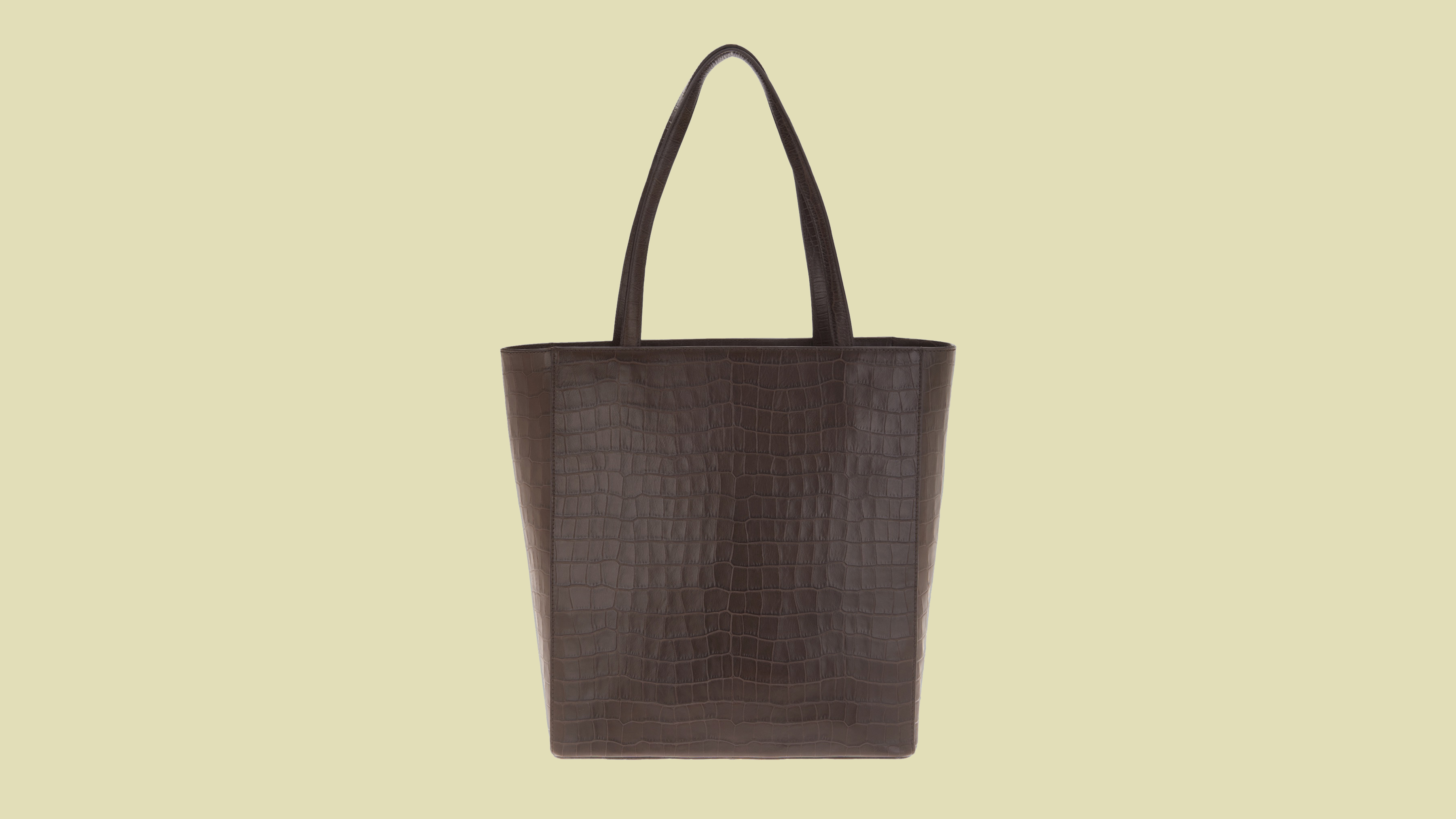 Martha Stewart Croco Embossed Leather Tote