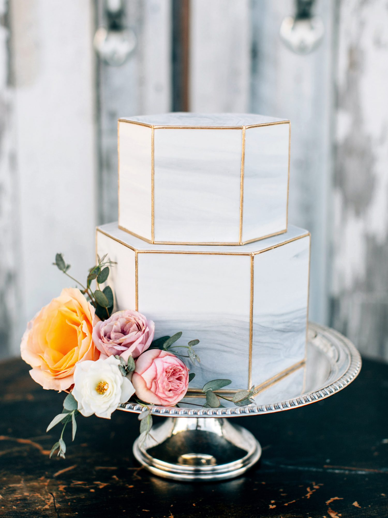 Hexagonal Wedding Cake
