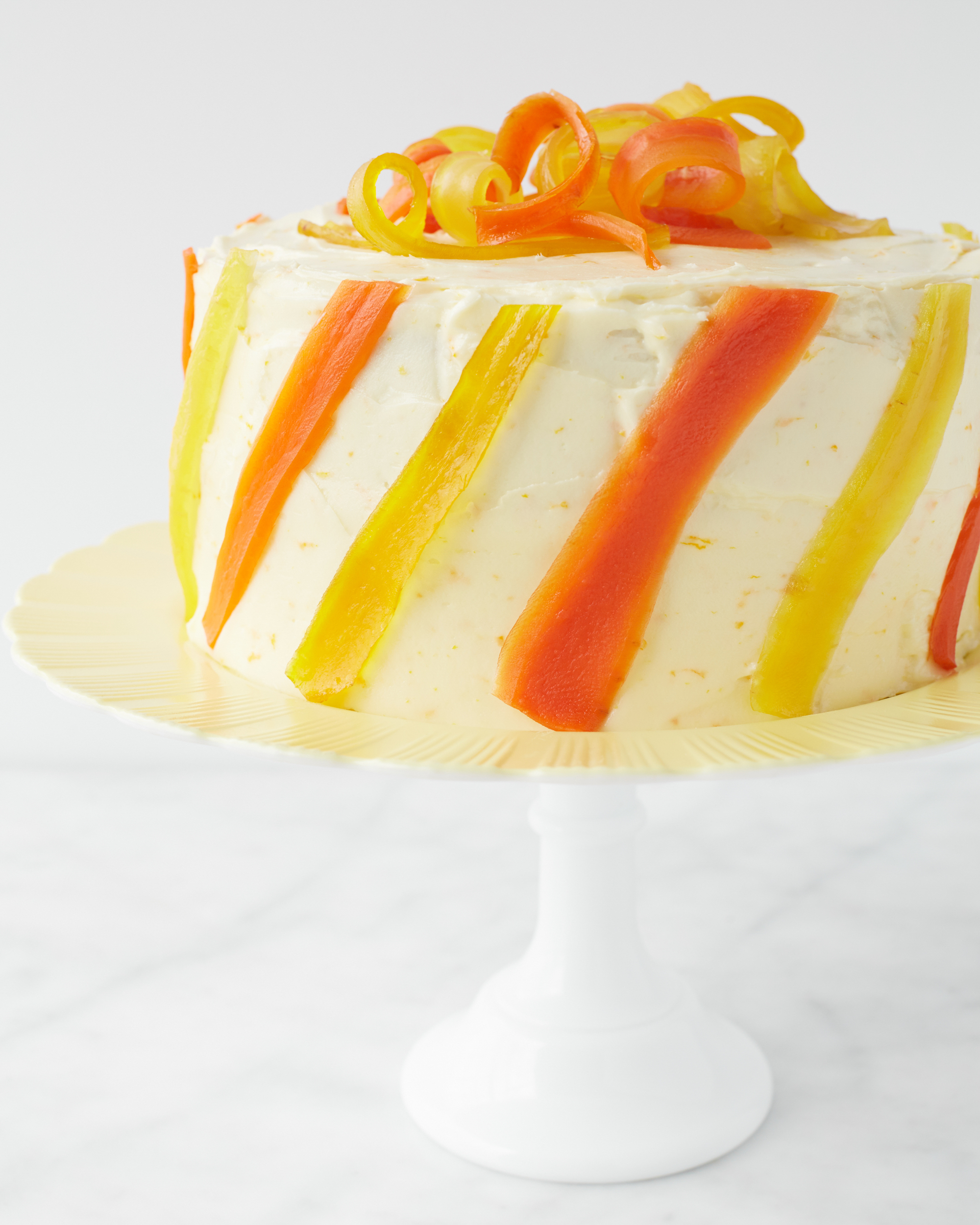 Carrot-Ginger Layer Cake with Orange Cream-Cheese Frosting