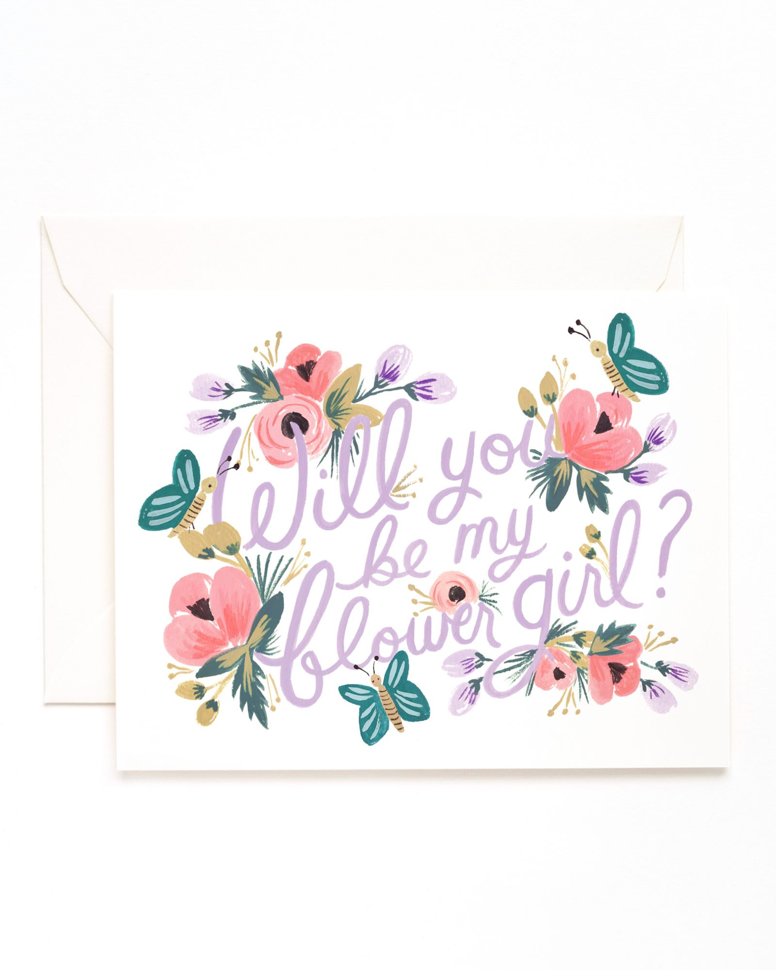 Floral Flower-Girl Card
