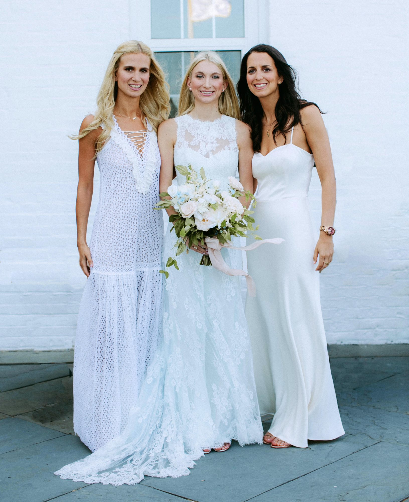 Casual White Bridesmaids' Dresses