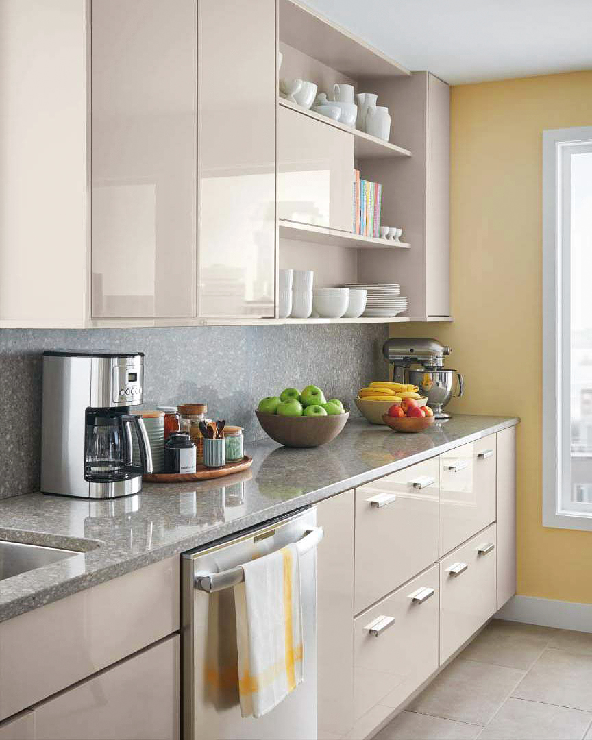 Modern: Martha Stewart Living Lacombe Avenue High Gloss Kitchen