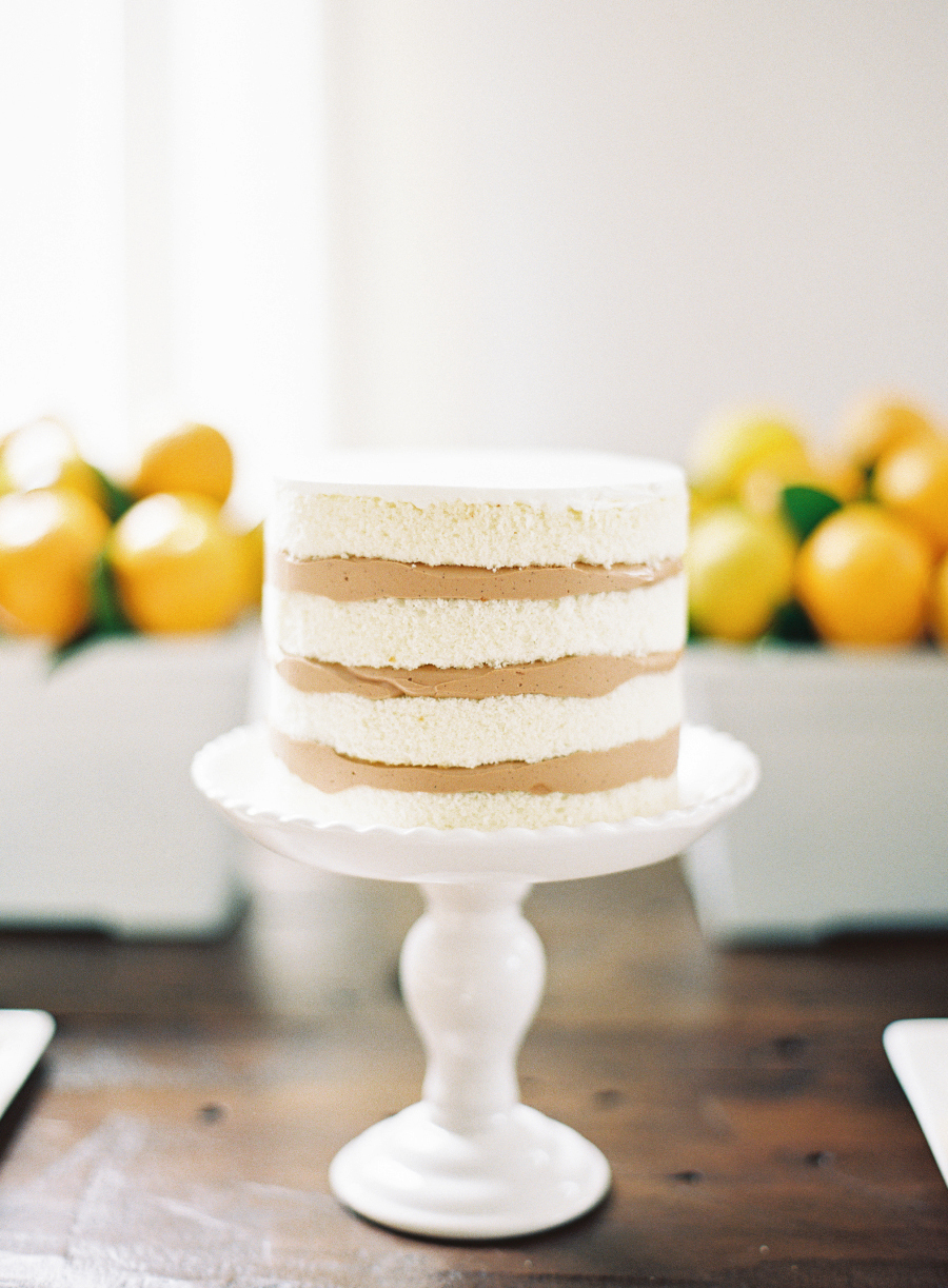 bridal shower layered cake