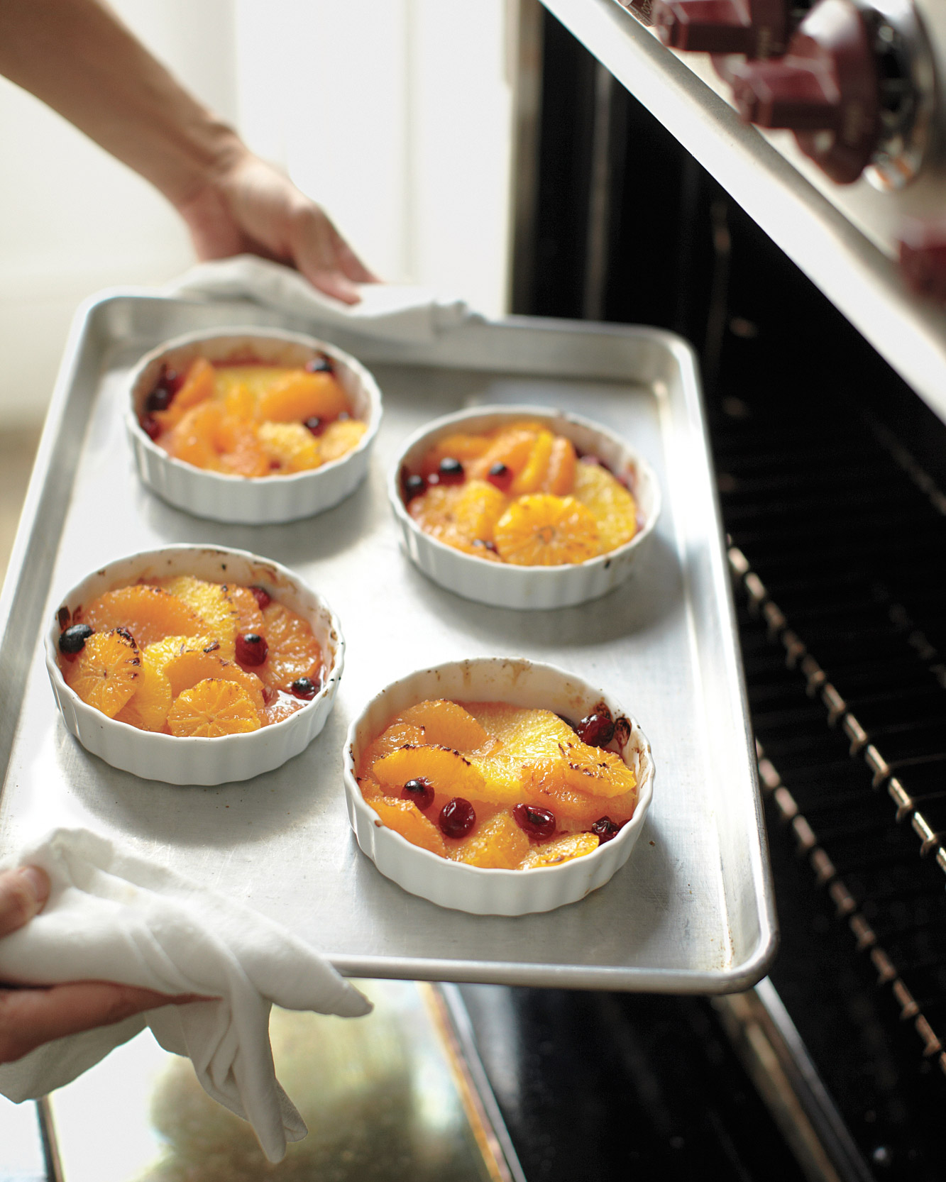 Broiled Citrus and Cranberries