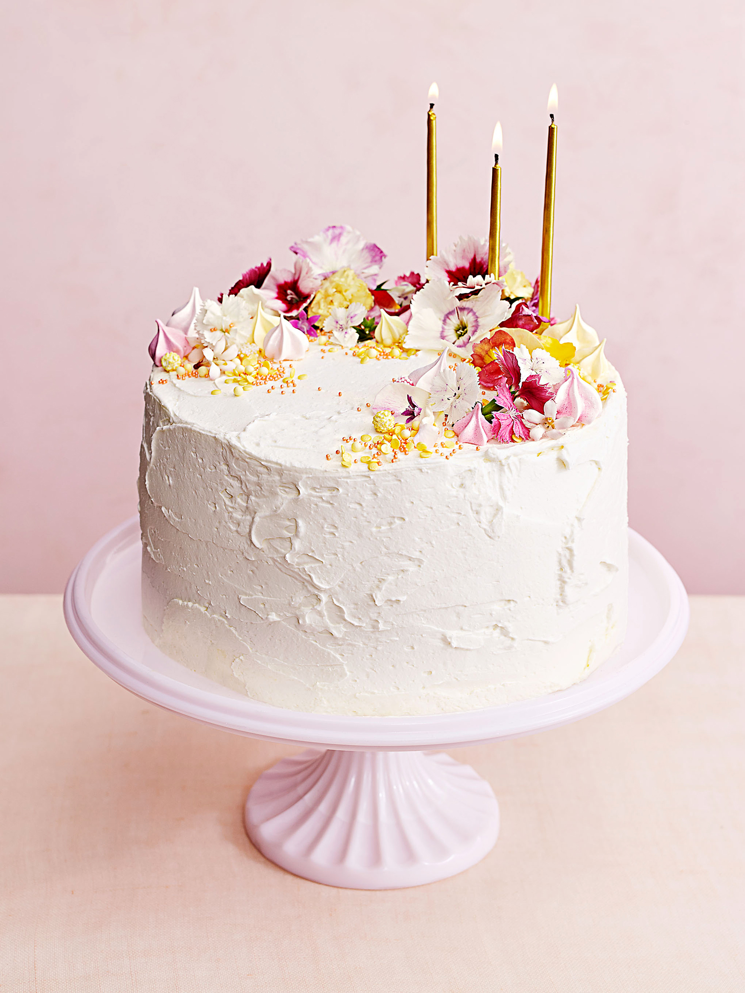 citrus mousse cake with buttercream frosting