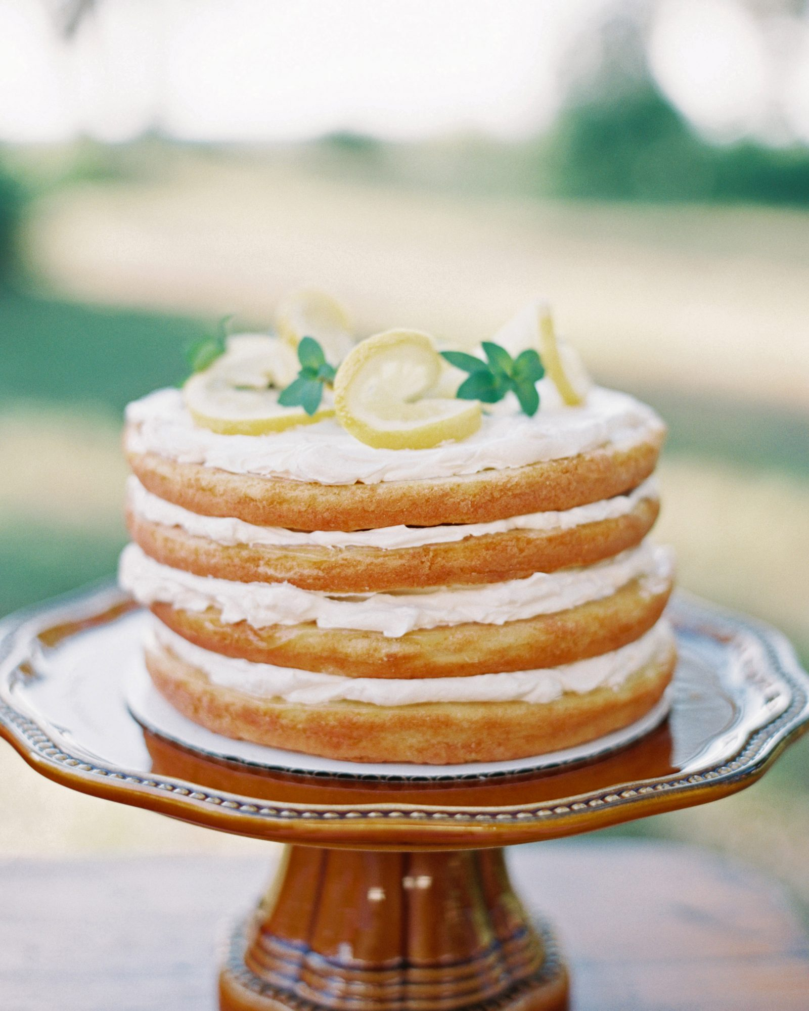 This lemon slice-topped naked cake didn't need any outside icing—it had plenty between its sponge layers!