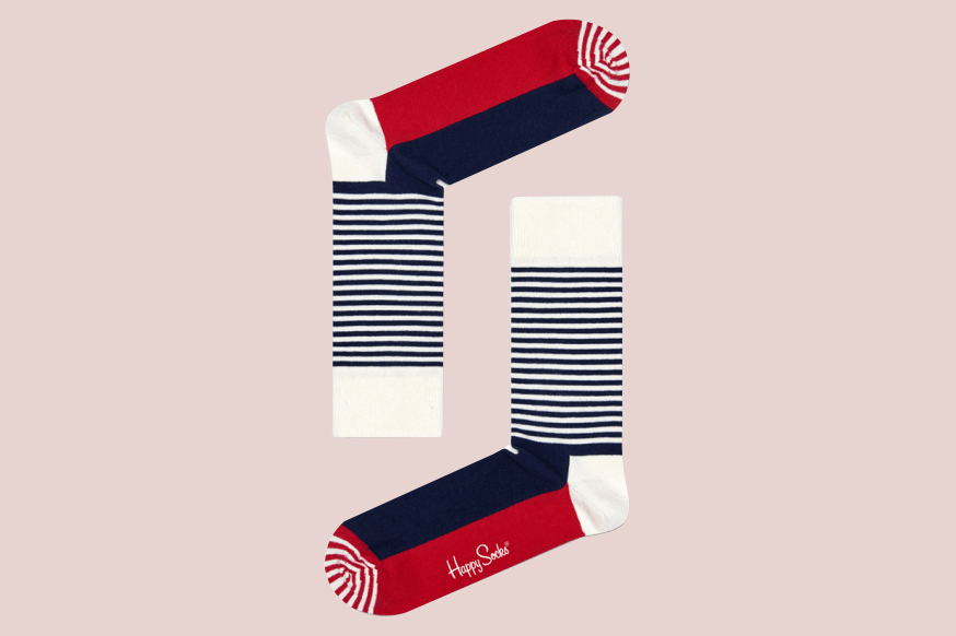"Happy Socks ""Half-Stripe"" Socks"