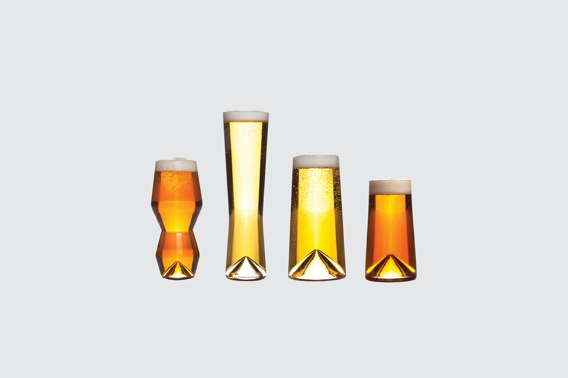 "Sempli ""Monti-Taste"" Hand-Blown Crystal Beer Glass Set"