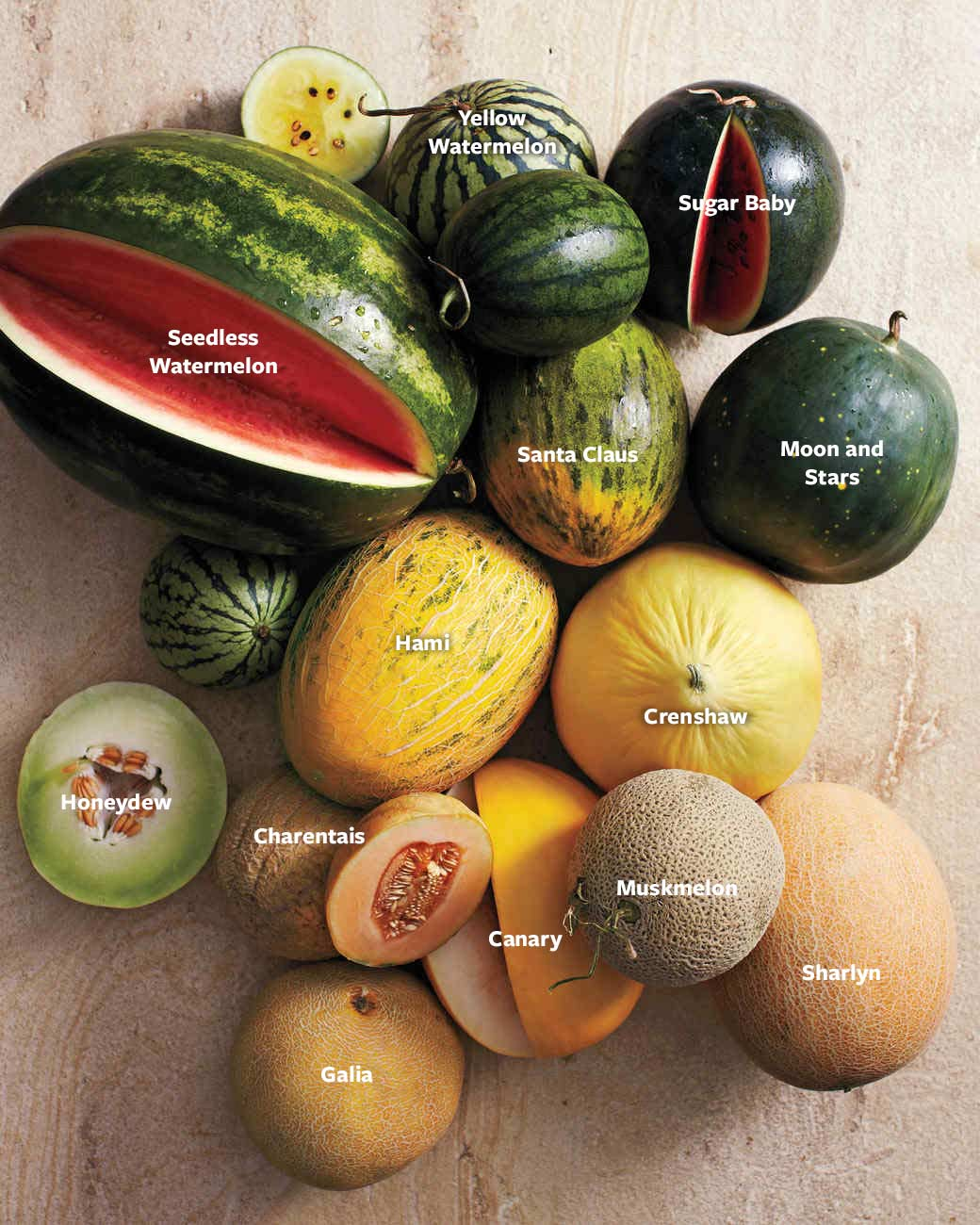 Summer Melon Guide Martha Stewart The nutrients that these melons contain may help preserve eye health, prevent asthma, and more. summer melon guide martha stewart