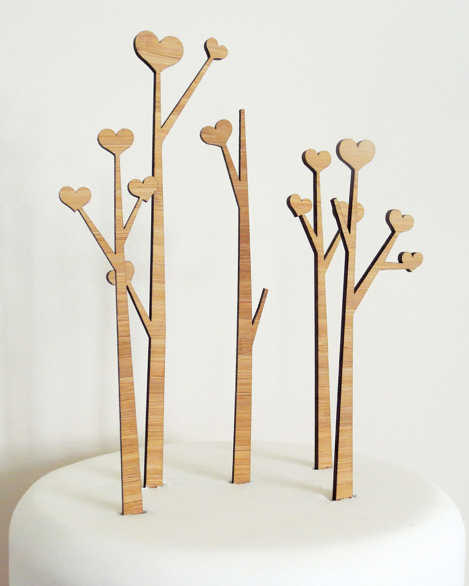 Heart Trees Cake Toppers
