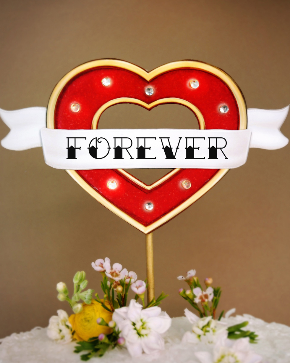 Marquee Light Cake Topper