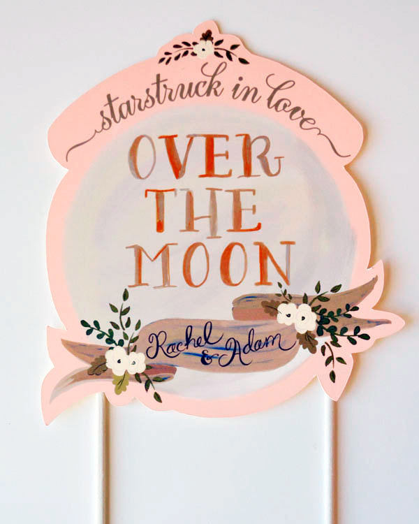 Over the Moon Cake Topper