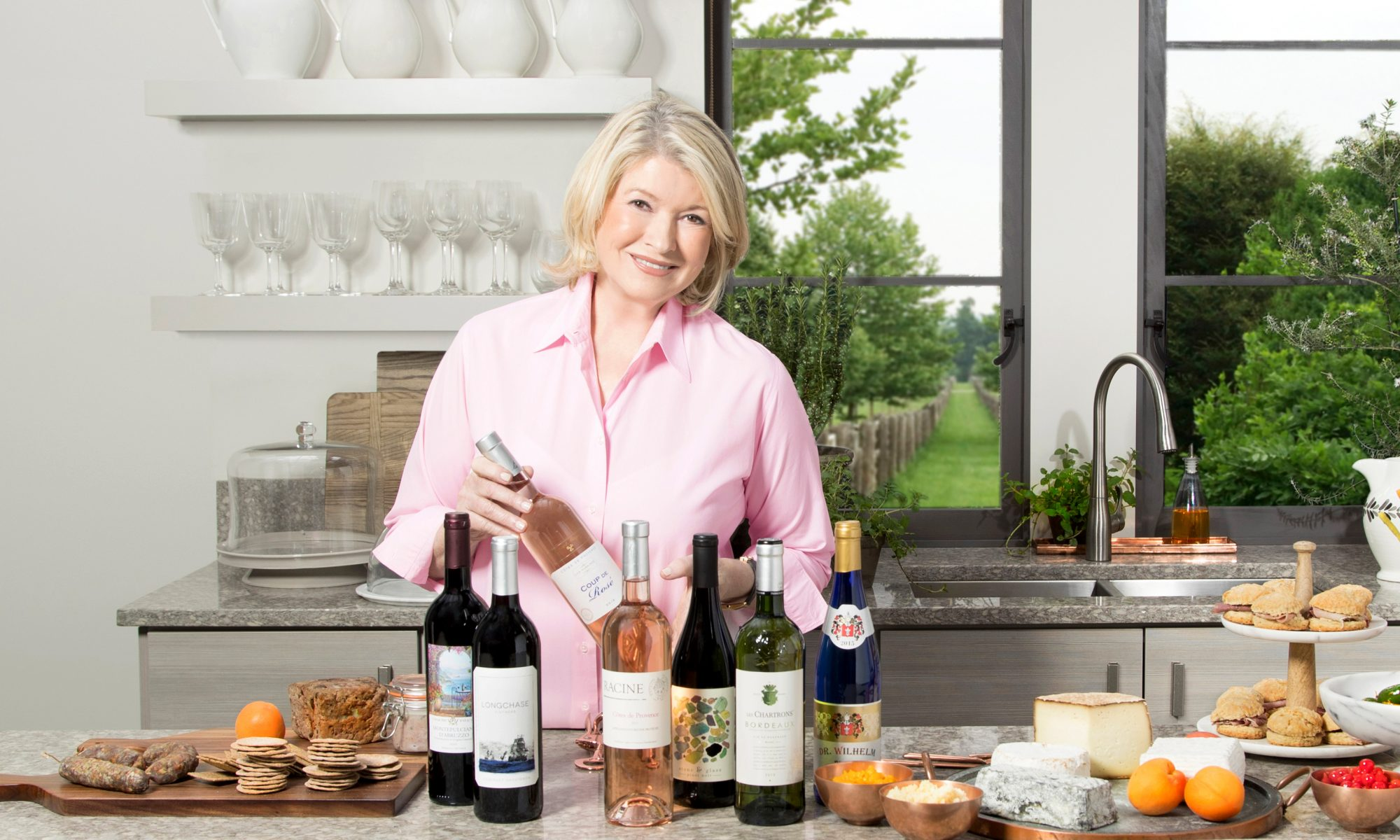 martha stewart wine varieties cheese snacks