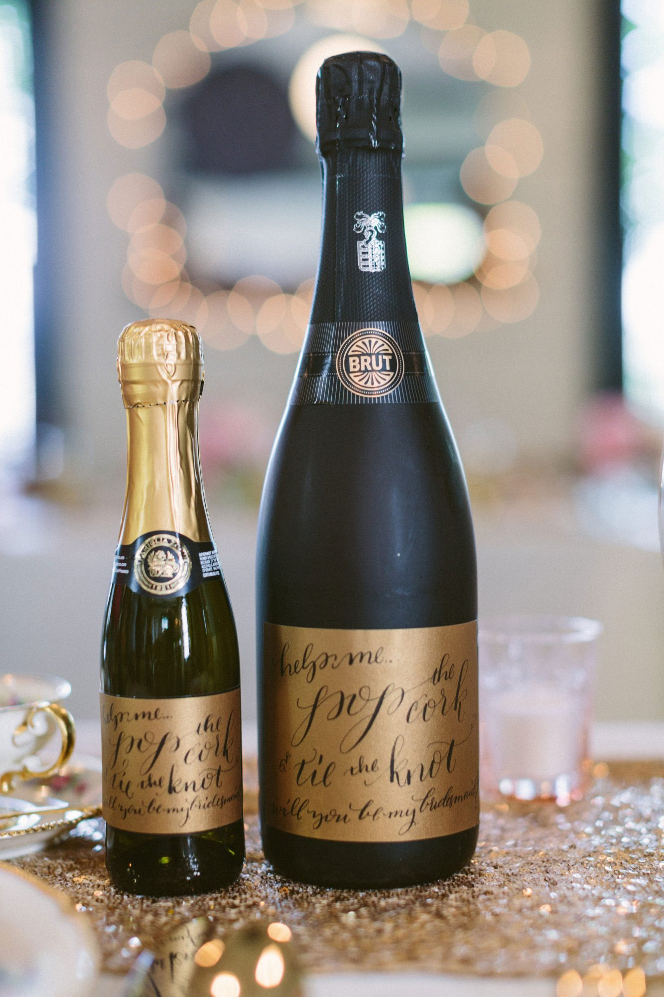 be my bridesmaid champagne