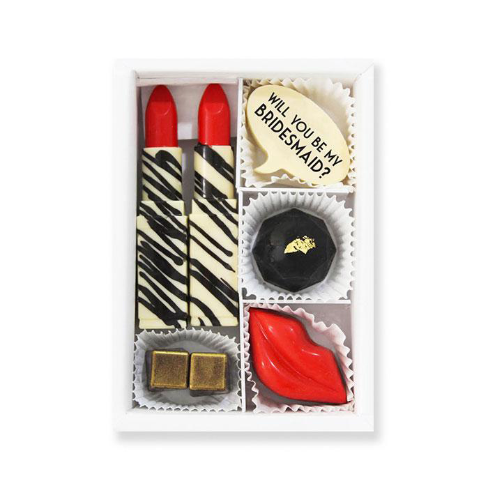 be my bridesmaid chocolate set in form of makeup