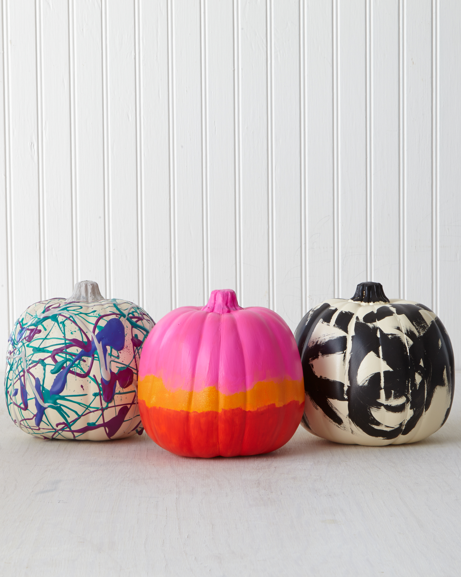 Abstract Expressionist Art Pumpkins