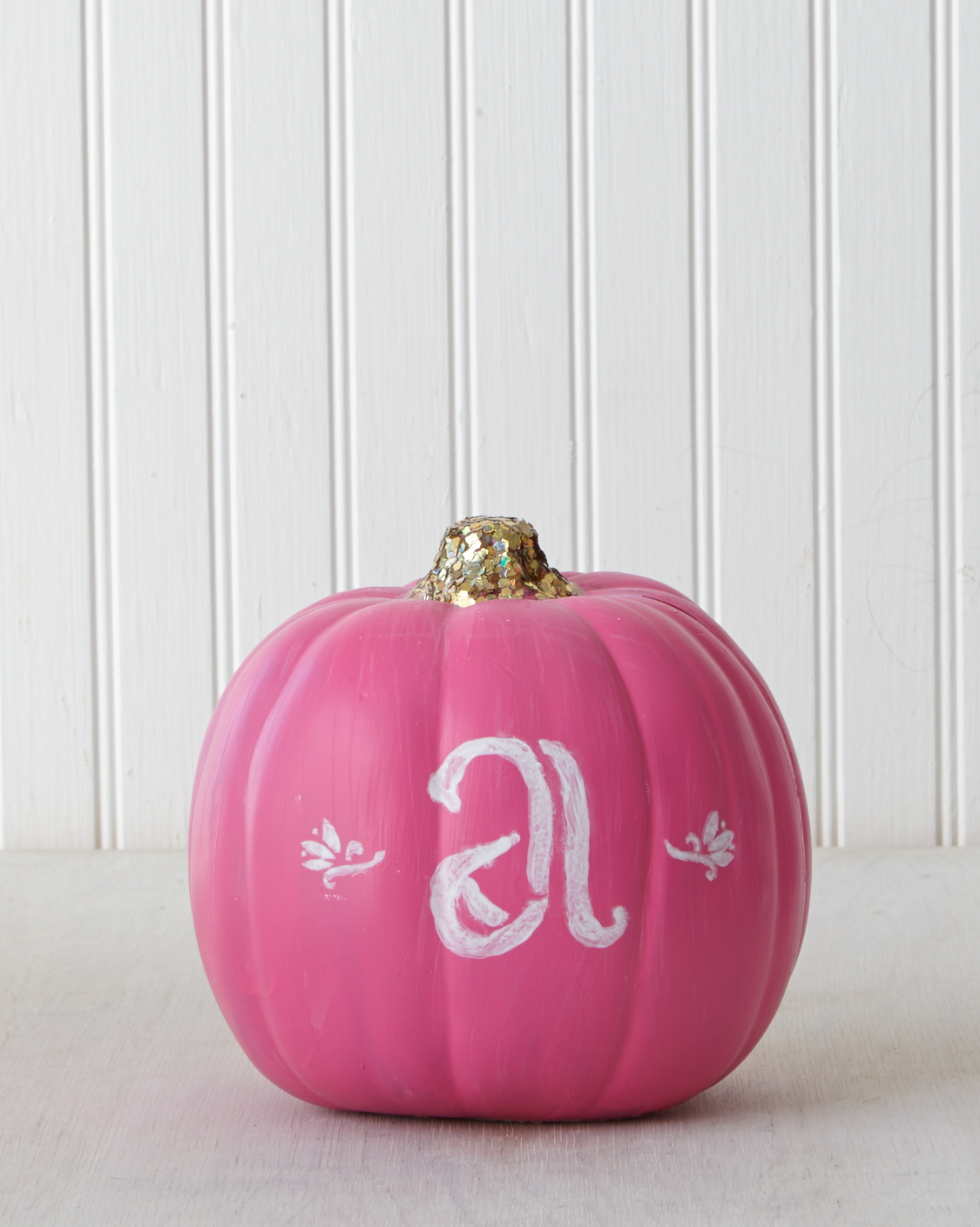 Preppy Monogram Pumpkin