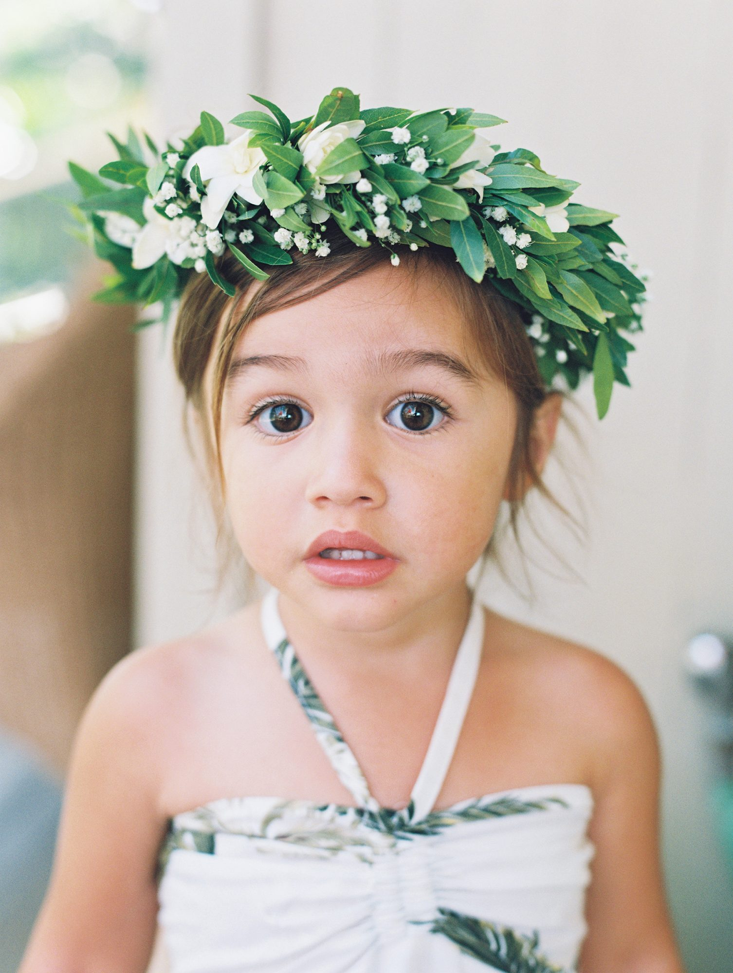 Flower Girl with Tropical Flower Crown