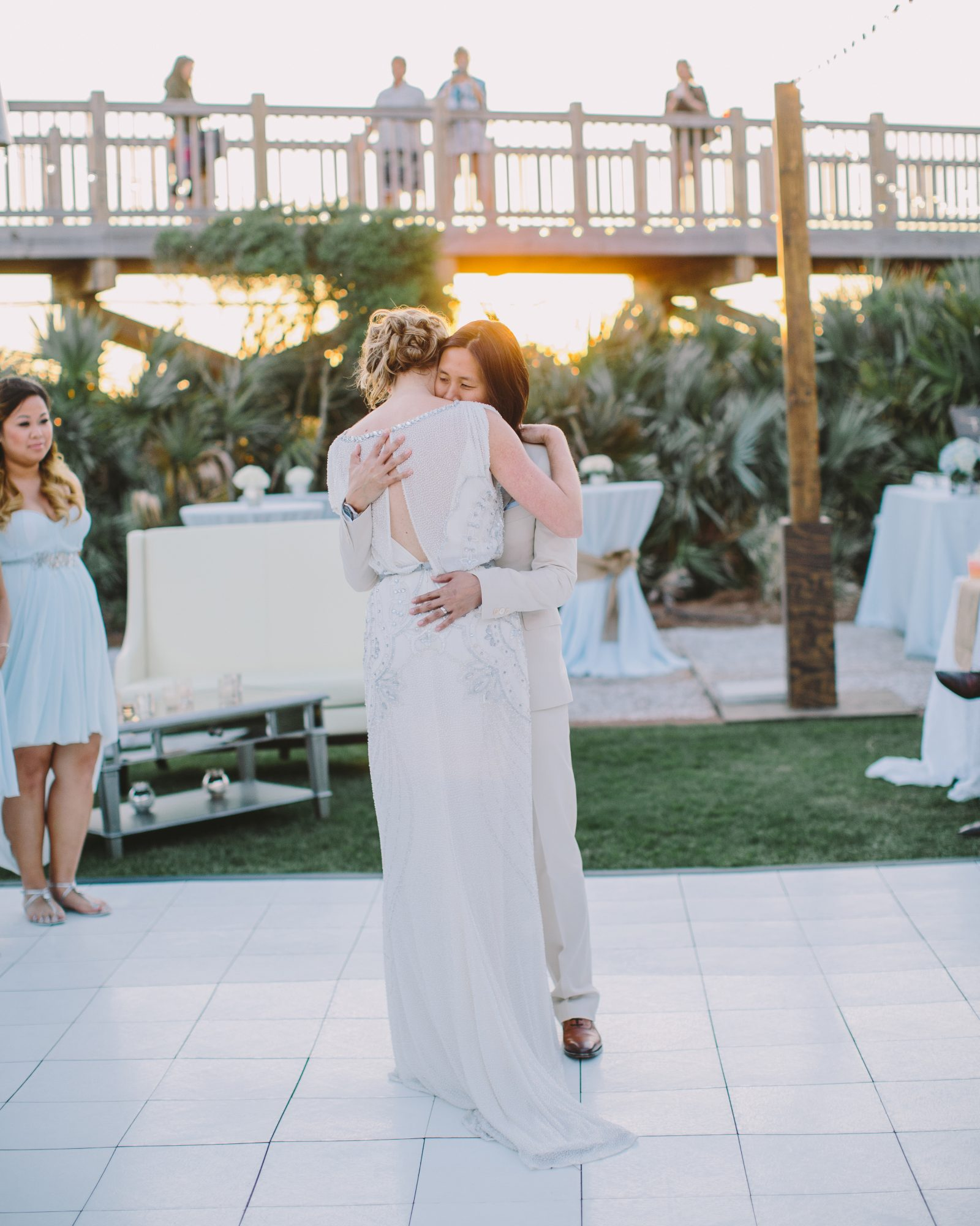 """Teresa and Amanda took to the dance floor to a version of """"Same Love"""" by Macklemore and Mary Lambert that was recorded by a high school friend."""